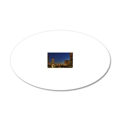 Midtown Tower in Roppongi 20x12 Oval Wall Decal