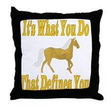 Paso Fino Define Throw Pillow