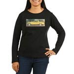 Yellow 1953 Studebaker on Women's Long Sleeve Dark