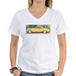 Yellow 1953 Studebaker on Women's V-Neck T-Shirt