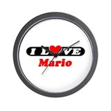 I Love Mario Wall Clock