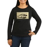 Two '53 Studebakers on Women's Long Sleeve Dark T-