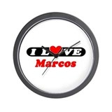 I Love Marcos Wall Clock