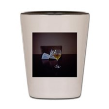 Book and wine Shot Glass