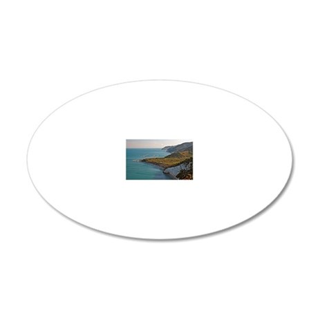 Gargano coast 20x12 Oval Wall Decal