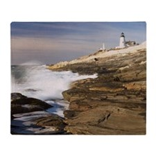 Lighthouse - Pemaquid, Maine Throw Blanket