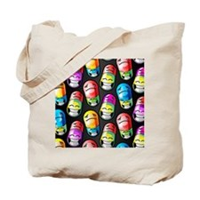 Pills with happy and sad faces on them Tote Bag