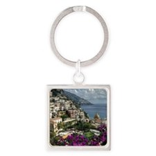 Positano looking back along coast  Square Keychain