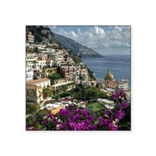 "Positano looking back along Square Sticker 3"" x 3"""