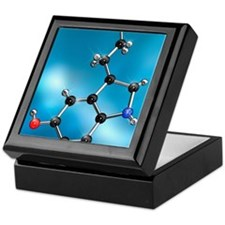 Serotonin neurotransmitter, molecular Keepsake Box