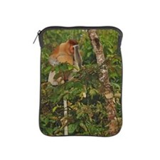 Male Proboscis monkey Nasali larvatus iPad Sleeve