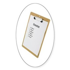 Checklist Oval Decal