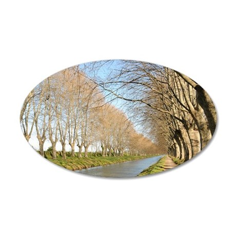 Canal du Midi 35x21 Oval Wall Decal