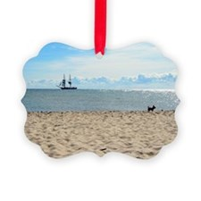 Serene, quiet Baltic sea beach in Ornament