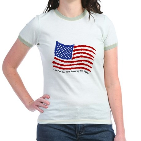 Land of the Free Jr. Ringer T-Shirt