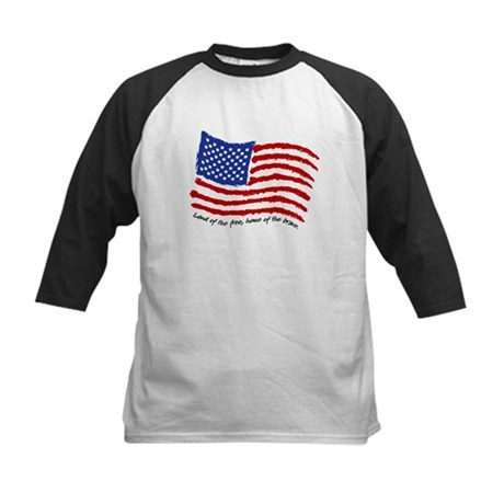 Land of the Free Kids Baseball Jersey