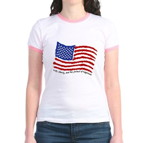 Life, Liberty Jr. Ringer T-Shirt
