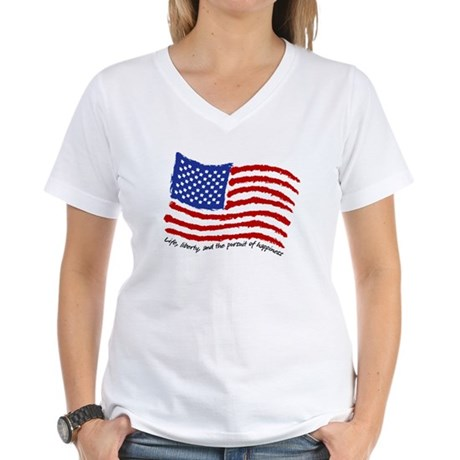 Life, Liberty Women's V-Neck T-Shirt