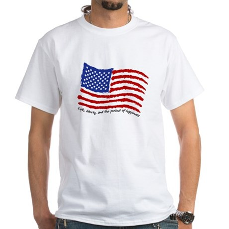 Life, Liberty White T-Shirt