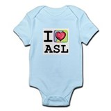 I Love ASL 1 Onesie