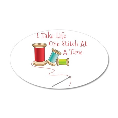 One Stitch at a Time Wall Decal