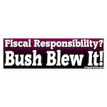 Fiscal Responsibility Bumper Sticker