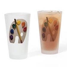 Palette and paintbrush Drinking Glass