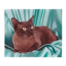 Burmese cat Throw Blanket