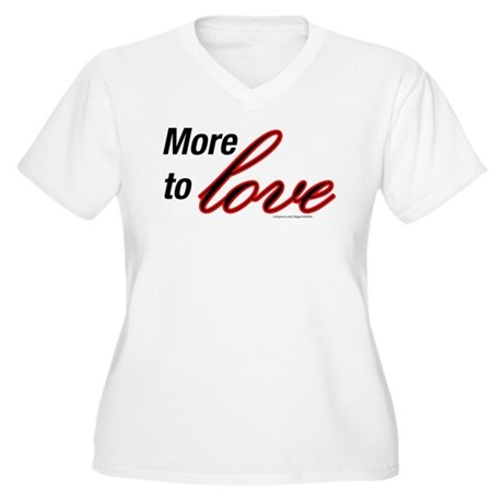 More to Love Women's Plus Size V-Neck T-Shirt