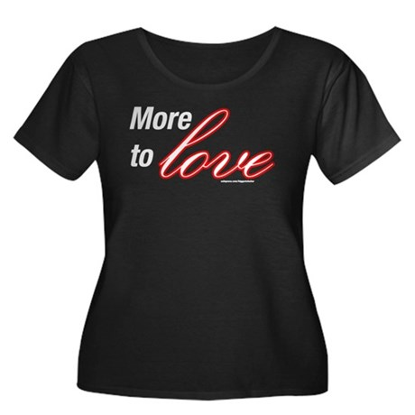 More to Love Women's Plus Size Scoop Neck Dark T-S