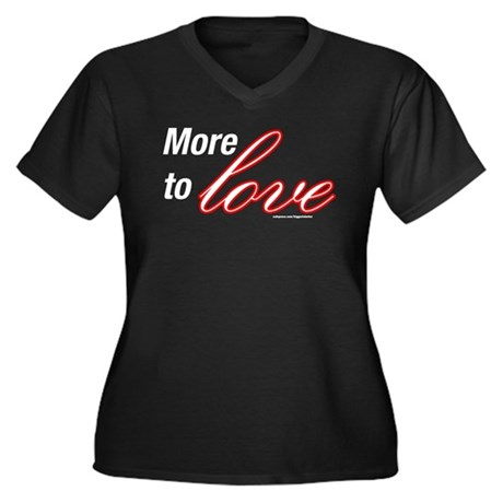 More to Love Women's Plus Size V-Neck Dark T-Shirt