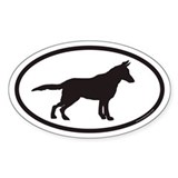 German Shepherd Euro Oval Bumper Bumper Stickers