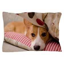 Lazy corgi dog Pillow Case
