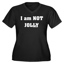 Not Jolly Women's Plus Size V-Neck Dark T-Shirt