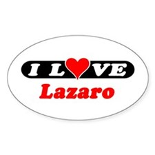 I Love Lazaro Oval Decal