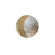 Close up of Phrenology head diagram Mini Button