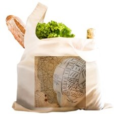Close up of Phrenology head  Reusable Shopping Bag