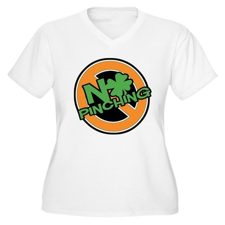No Pinching Shamrock Women's Plus Size V-Neck Tee