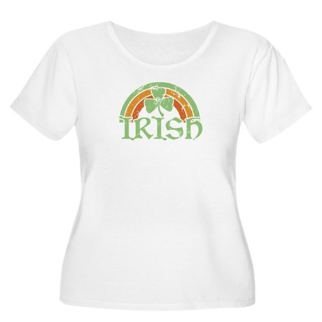 Vintage Irish Rainbow Women's Plus Size Scoop Neck
