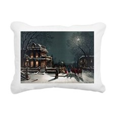 Vintage Christmas Eve Rectangular Canvas Pillow