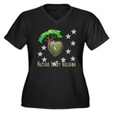 Nature Is My Religion Women's Plus Size V-Neck Dar