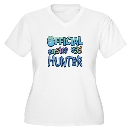 Easter Egg Hunter Women's Plus Size V-Neck T-Shirt