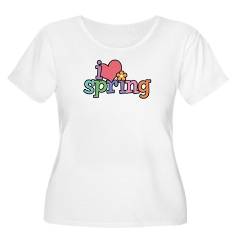 I Love Spring Women's Plus Size Scoop Neck T-Shirt