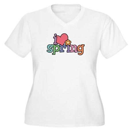 I Love Spring Women's Plus Size V-Neck T-Shirt