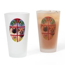 Shar pei Puppy Christmas Drinking Glass