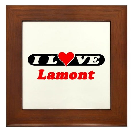 I Love Lamont Framed Tile
