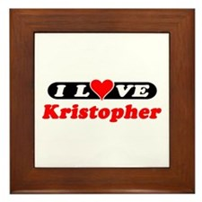 I Love Kristopher Framed Tile