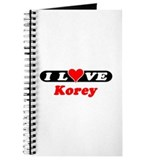 I Love Korey Journal