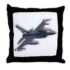 F-16 C Throw Pillow