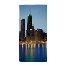 Buildings along the downtown Chicago l Beach Towel
